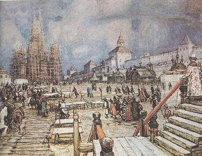 Нажмите на изображение для увеличения Название: Москва при Иване Грозном. Красная площадь.jpg Просмотров: 119 Размер:98.5 Кб ID:409
